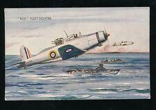 Aviation Military RAF air force ROC Fleet Fighter Artist Bannister c1940 WW2 PPC