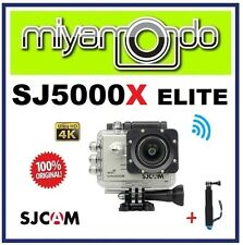 SJCAM Original SJ5000X Elite 4K WiFi Action Camera (Silver) + Monopod