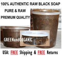 Raw African Black Soap Paste 100% Pure Natural Organic Unrefined Ghana Bulk