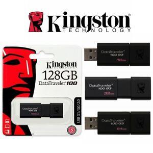 USB Flash Drive 3.0 Kingston Data Traveler Memory Stick 32GB 64GB 16GB 128GB