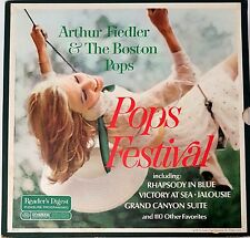Arthur Fiedler & The Boston Pops POPS FESTIVAL 10 LP Vinyl Record 33 rpm lot