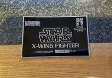 ICONS Star Wars X-Wing Fighter ARTIST PROOF Plaque COA ORIGINAL Prop Replica