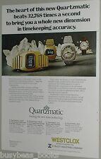 1974 Westclox Quartz Watch ad, early digital watches