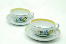 Arabia Windflower Lot of 2 Cup and Saucers