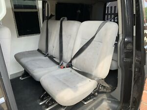 VW T5 Rear Seats 2+1  Transporter Bus Day Van Crew Van All Fixings And Belts