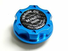 BLUE MOBIL 1 CARBON FIBER OIL CAP FOR NISSAN INFINITI