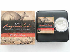 2014 Australia Kangaroo $1 One Dollar Silver Proof 1oz Coin Box Coa