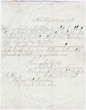 RARE Autograph Letter Signed H. Betzinger Fort Plain Fireman 1872 Hook & Ladder