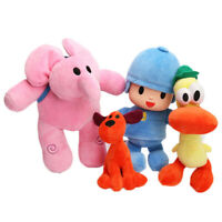 4Pcs/Set Pocoyo Loula Elly Pato Plush Doll Stuffed Animals Soft Pillow Toy Gift