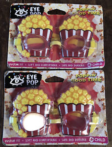 Funky Popcorn Goggles LOT Of 2 Beach Pool Party Kids Movie Night New 🦋