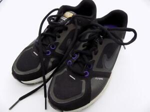 Nike FreeXT Flywire Quick Fit Women's Sz. 6 415257-001 Black/Purple EUC