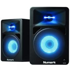 Numark NWAVE 580l Active Desktop DJ Monitors With LED Lights Monitor Pads