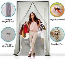 Apalus ® Schermo Magnetico Porta, 140 x 240 cm super sottili Fly Mesh, magnetico top