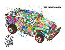Hot Wheels Funny Money Redline Car Racing Print Poster Wall Art 8.5x11