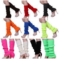 Calentadores de pierna sin pies tejidos de Color solido de mujer N6C1