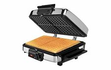 Sandwich and Waffle Iron Maker Stainless Steel 3 in 1 Griddle Grill Press New