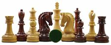 "Augusta Series Premium 4.125"" Staunton Chess Set in Padouk and Box Wood"
