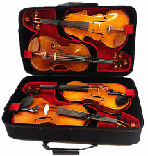 QVC-920 - Enhanced Wooden 4-Violin Case / Special Air Version / Fit 4 Pcs Violin