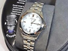 Citizen Eco-Drive EW1936-53A Ladies Two-Tone Diamond Dial Bracelet Watch