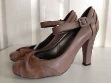 NEXT SOLE REVIVER beautiful mid brown leather high Mary Jane shoes UK 7 41