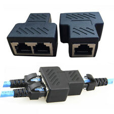 RJ45 Splitter Adapter 1 to 2 Dual Female Port CAT 5/CAT 6 LAN Ethernet Convertor