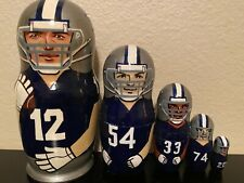 Russian Nesting Dolls Dallas Cowboys 5 pcs! Beautiful Set