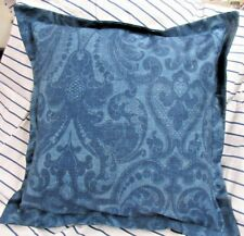 "Ralph Lauren Los Cabos blue Pillow Sham 16"" square Same fabric back"