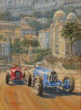 Tazio Nuvolari Bugatti Alfa Romeo Monaco Motor Sport Racing Car Art Print
