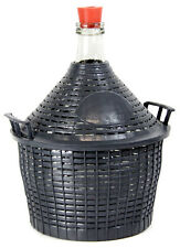 Weinballon mit Kunststoffkorb + Gummistopfen Glasflasche Glasballon 25 L