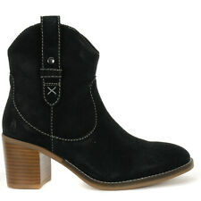Hush Puppies Women's Hannah Mid Boots Black Suede HW06582-001 NEW!
