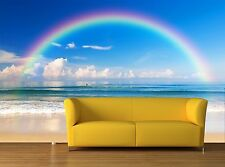 Beautiful sea with a rainbow in 3D Photo Wallpaper Wall Mural Wall Decor Paper