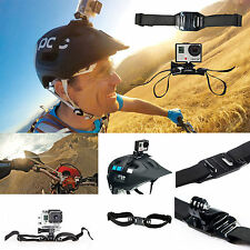 Bike Motorbike Vented Helmet Head Strap Mount for GoPro Camera HD Hero 1 2 3 4