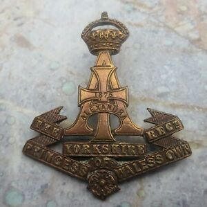 The Princess of Wales's Own Yorkshire Regiment (Bronze) Army ?Collar Badge