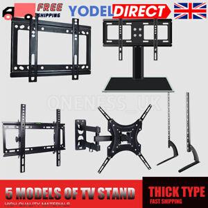Universal Desk Table Top TV Stand Bracket LCD LED Plasma VESA Mount Shelves UK