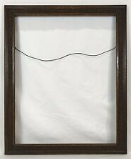 Antique Late 19th C Decorated Oak Frame 19 x 24 Opening