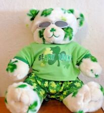Customized St Patrick/'s Day Two Shamrocks Sweater Handmade for Build A Bear Cub