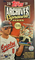 2019 Topps Archives Signature Series Retired Player Edition Box (1 Auto Card)