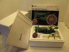 """Ertl Precision Classics John Deere Model """"A"""" Tractor on Steel #560 1:16 ca. 1990"""