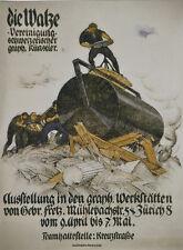 Original Plakat - Die Walze - Vereinigung schweizerischer graph. Künstler