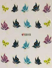 Nail Art 3D Decal Stickers Butterfly Butterflies E015