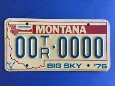 1976 Montana SAMPLE Trailer License Plate Tag Bicentennial