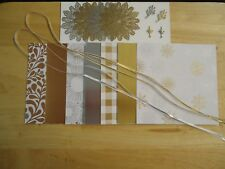 Stampin Up YEAR OF CHEER SPECIALTY 6 x 6 Designer Paper Card Kit Ribbon