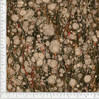Hand Marbled Paper Bookbinding, Gloster Marble Pattern, Series 48x67cm 19x26in