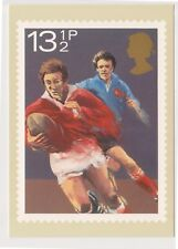 (K81-66) 1980 GB 131/2p Rugby Post Card (BR)