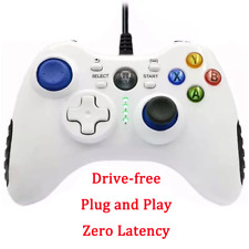 White USB Gamepad Computer Wired Vibration Steam TV Projection PS3 Driver-free