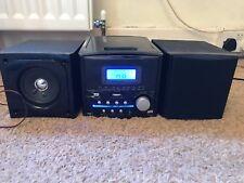 CD Radio iPod HiFi unità Micro Hi-Fi in rosso.