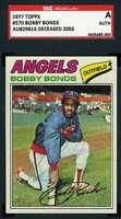 Bobby Bonds 1977 Topps SGC Coa Autograph Authentic Hand Signed