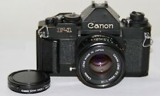 Canon New F-1 35mm SLR Film Camera + FD 50mm f/1.8 Lens Working Condition