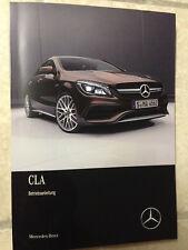 MERCEDES CLA C 117 2017 Betriebsanleitung 2017 Bedienungsanleitung Handbuch C117