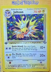 Pokémon - Jolteon - 1st Edition - Holographic - 4/64 - Jungle Set - 1999 - WoTC